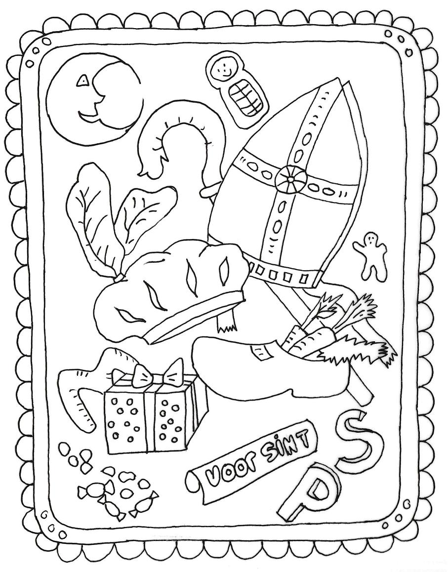 Kleurplaten Printen Sint.Spelletjes En Kleurplaten Sintgeertruidenberg